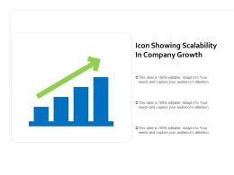 Icon Showing Scalability In Company Growth