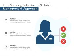 Icon Showing Selection Of Suitable Management Approach