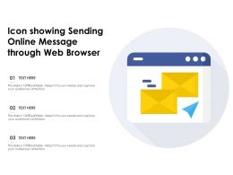 Icon Showing Sending Online Message Through Web Browser