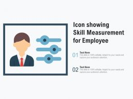 Icon Showing Skill Measurement For Employee