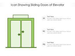 Icon Showing Sliding Doors Of Elevator