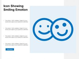 Icon Showing Smiling Emotion