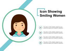 Icon Showing Smiling Women