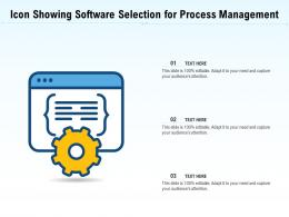 Icon Showing Software Selection For Process Management