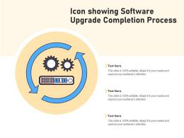 Icon Showing Software Upgrade Completion Process