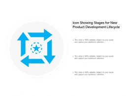 Icon Showing Stages For New Product Development Lifecycle