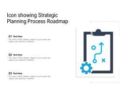 Icon Showing Strategic Planning Process Roadmap