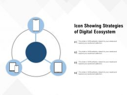 Icon Showing Strategies Of Digital Ecosystem