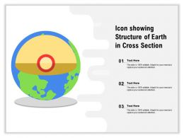 Icon Showing Structure Of Earth In Cross Section