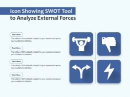 Icon Showing Swot Tool To Analyze External Forces