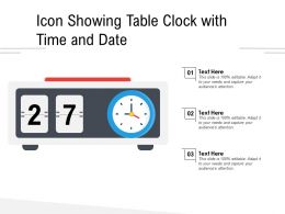 Icon Showing Table Clock With Time And Date