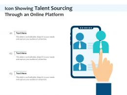 Icon Showing Talent Sourcing Through An Online Platform