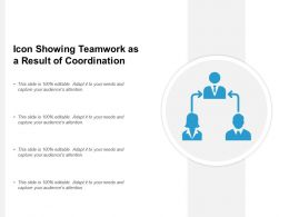 Icon Showing Teamwork As A Result Of Coordination