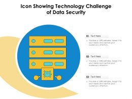 Icon Showing Technology Challenge Of Data Security