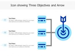 Icon Showing Three Objectives And Arrow