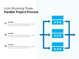 Icon Showing Three Parallel Project Process