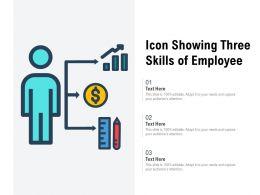 Icon Showing Three Skills Of Employee