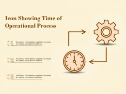 Icon Showing Time Of Operational Process