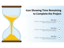 Icon Showing Time Remaining To Complete The Project