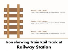 Icon Showing Train Rail Track At Railway Station