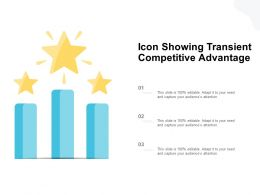 Icon Showing Transient Competitive Advantage