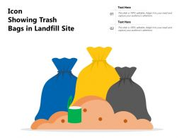 Icon Showing Trash Bags In Landfill Site