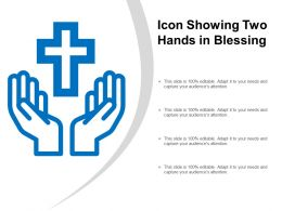 Icon Showing Two Hands In Blessing