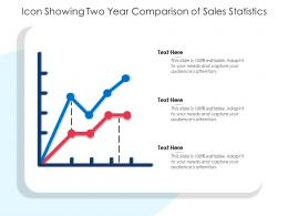 Icon Showing Two Year Comparison Of Sales Statistics