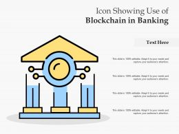Icon Showing Use Of Blockchain In Banking