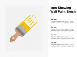Icon Showing Wall Paint Brush