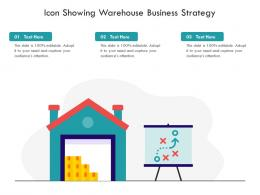 Icon Showing Warehouse Business Strategy