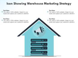Icon Showing Warehouse Marketing Strategy