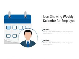 Icon Showing Weekly Calendar For Employee