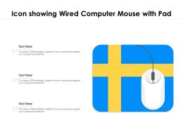 Icon Showing Wired Computer Mouse With Pad