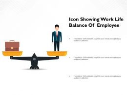 Icon Showing Work Life Balance Of Employee