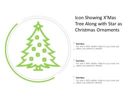 Icon Showing Xmas Tree Along With Star As Christmas Ornaments