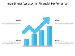 Icon Shows Variation In Financial Performance