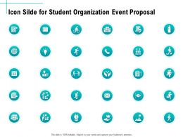 Icon Silde For Student Organization Event Proposal Ppt Example File