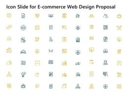Icon Slide For E Commerce Web Design Proposal Ppt Powerpoint Presentation Visual Aids Summary