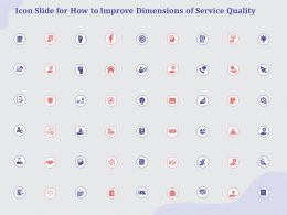 Icon Slide For How To Improve Dimensions Of Service Quality Ppt Powerpoint Infographics