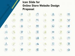 Icon Slide For Online Store Website Design Proposal Ppt Icon