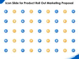 Icon Slide For Product Roll Out Marketing Proposal Ppt Powerpoint Gallery Portfolio