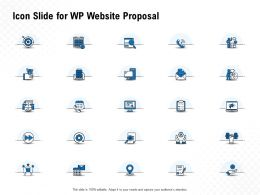 Icon Slide For WP Website Proposal Ppt Powerpoint Presentation Visual Aids Slides