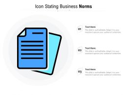 Icon Stating Business Norms