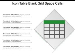 Icon Table Blank Grid Space Cells