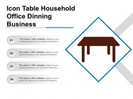 Icon Table Household Office Dinning Business