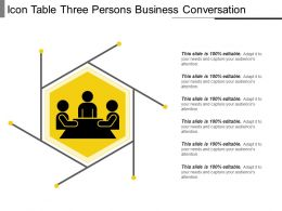 Icon Table Three Persons Business Conversation