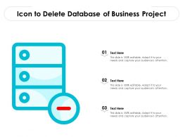 Icon To Delete Database Of Business Project