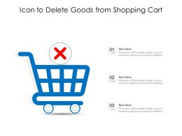 Icon To Delete Goods From Shopping Cart