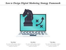 Icon To Design Digital Marketing Strategy Framework
